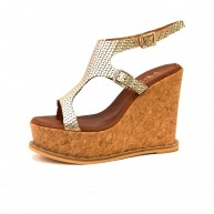 DIMY GOLD PLATFORM LEATHER
