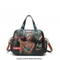 LA16114 LATOYA LOVES WHO SHE IS SHOULDER BAG