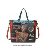 LA16116 LATOYA LOVES WHO SHE IS TOTE BAG