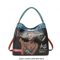 LA16117 LATOYA LOVES WHO SHE IS DOUBLE-STRAP SHOULDER BAG